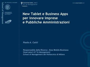 New Tablet e Business Apps per innovare imprese e Pubbliche ...