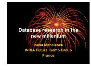 Database research in the new millenium - Inria