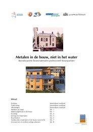 Metalen in de bouw, niet in het water - Verenigde EPDM Systeem ...
