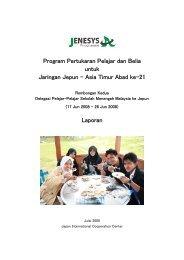 Program Pertukaran Pelajar dan Belia untuk Jaringan Jepun – Asia ...