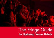 to Updating Venue Details - Edinburgh Festival Fringe