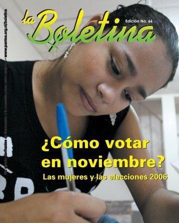 LA BOLETINA 66.indb - Sidoc - Fundación Puntos de Encuentro