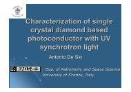 Characterization of single crystal diamond based photoconductor ...
