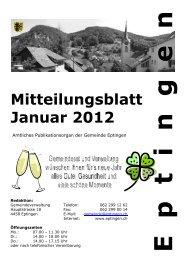 Mitteilungsblatt für den Monat Januar 2012 - Eptingen