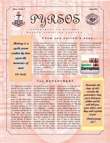 Newsletter - Madras Christian College