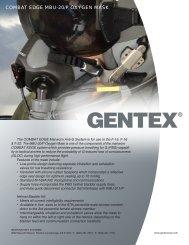 COMBAT EDGE MBU-20/P OXYGEN MASK - Gentex Corporation