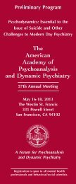The American Academy of Psychoanalysis and Dynamic Psychiatry