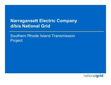 Narragansett Electric Company d/b/a National Grid