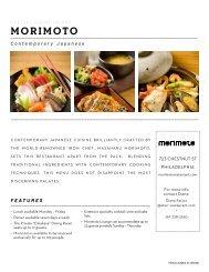 MORIMOTO - STARR Restaurants