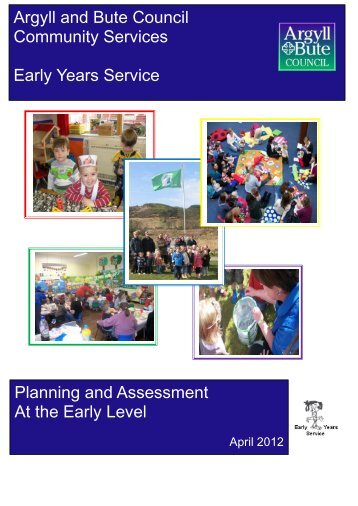 Argyll and Bute Council Community Services Early Years Service ...