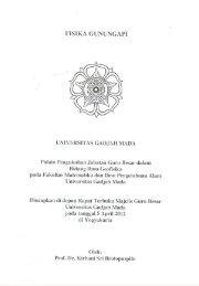 FISIKA GUNUNGAPI - Universitas Gadjah Mada