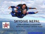 Skydive Nepal - Incredible Adventures