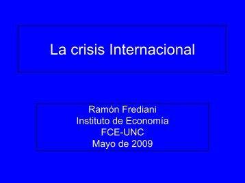Crisis Mundial - mayo 2009 - Instituto de Economía y Finanzas