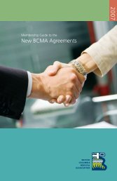 New BCMA Agreements - British Columbia Medical Association