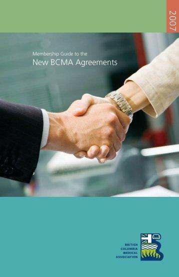 New BCMA Agreements - British Columbia Medical Association