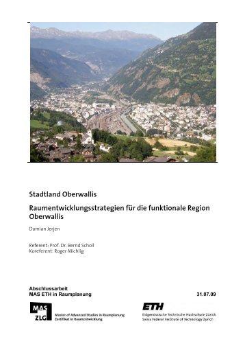Stadtland Oberwallis - Institut für Raum - ETH Zürich
