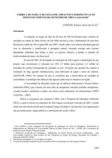 Regiane Aparecida Costa Andrade - Campus de Três Lagoas