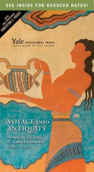 Voyage into antiQuity - Yale University