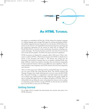 AN HTML TUTORIAL Getting Started