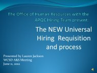 THE HIRING PROCESS - Washoe County School District