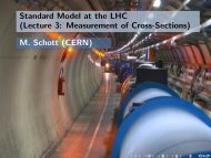 Standard Model at the LHC (Lecture 3: Measurement of Cross ...