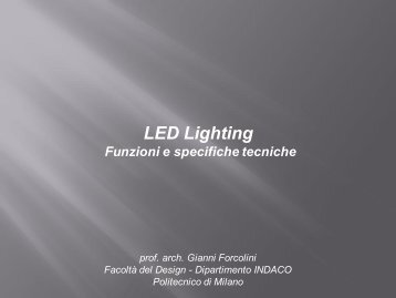 Fondamenti di LED Lighting Design - Tecnoimprese