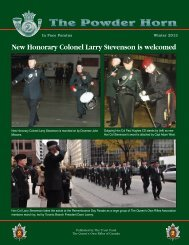8 TH NEWSLETTER - Queen's Own Rifles of Canada