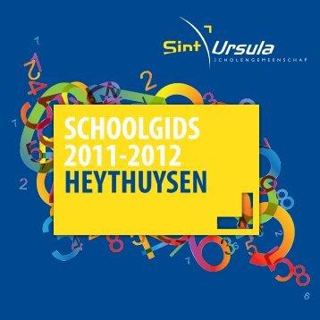 SCHOOLGIDS 2011-2012 HEYTHUYSEN - S.G. Sint Ursula Horn
