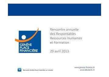 Rencontre annuelle des Responsables Ressources Humaines et ...