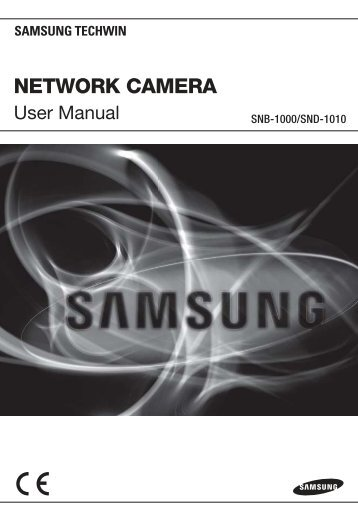 SND-1010 User Manual - Samsung CCTV