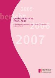 Qualitätsbericht 2005–2007 - referenzzentrum mammographie berlin