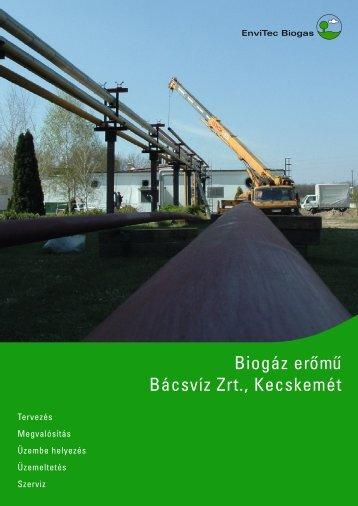 Factsheet BÁCSVÍZ - Kecskemét (HU) - EnviTec Biogas South East ...