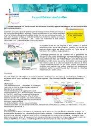 La ventilation double-flux - Espace Info Energie Pays de la Loire