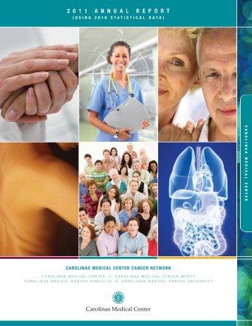 2011 Cancer Annual Report - Carolinas HealthCare System
