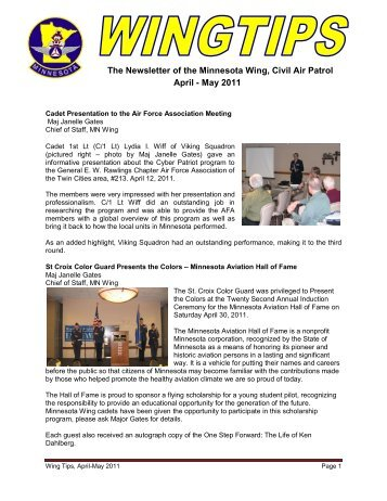 The Newsletter of the Minnesota Wing, Civil Air Patrol April - May 2011