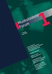 Muskuloskeletalt Forum - 1/2005 (pdf) - Fagforum for ...