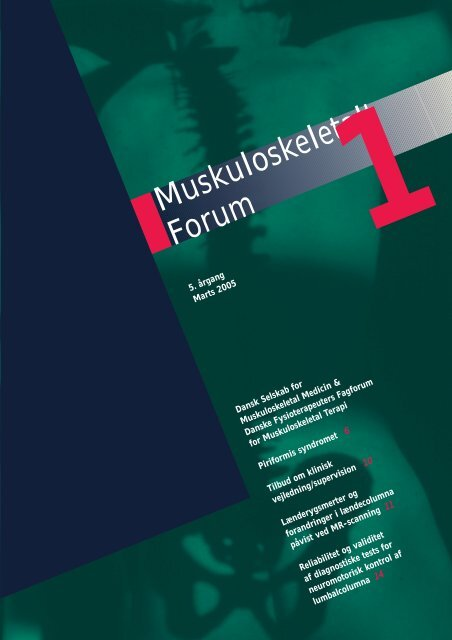 Muskuloskeletalt Forum - 1/2005 (pdf) - Fagforum for ...
