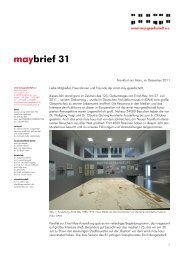 maybrief 31.indd - Ernst-May-Gesellschaft e.V.