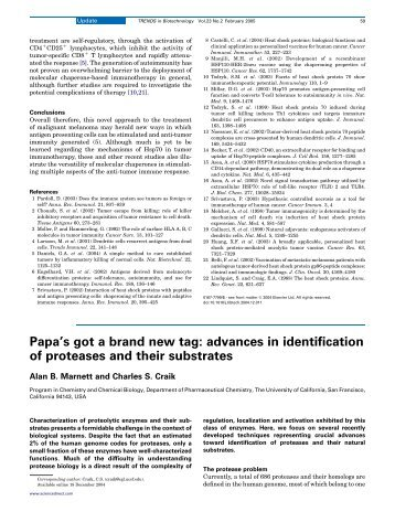 advances in identification of proteases and their substrates