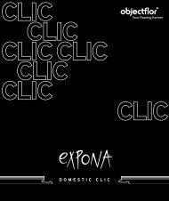 expona domestic clic - Objectflor Art und Design Belags GmbH