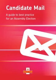 Candidate Mail guide for Assembly elections (PDF ... - Royal Mail