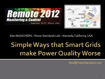Simple Ways That Smart Grids Make Power Quality Worse
