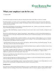 What your employer can do for you - Sigmar Recruitment