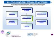 télécharger le bulletin documentaire régional de Janvier 2011