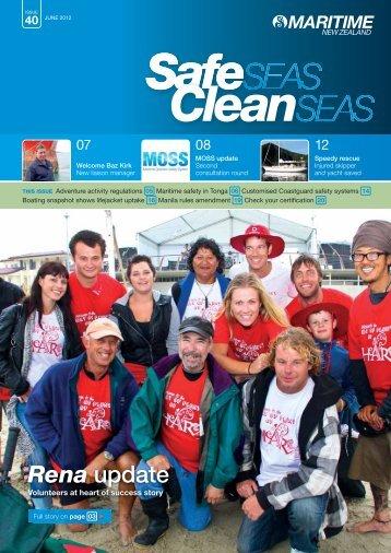 Safe Seas Clean Seas - Maritime New Zealand