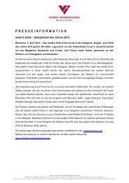PRESSEINFORMATION - Vienna International Hotelmanagement AG