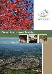 New Residents Guide - Rural City of Wangaratta