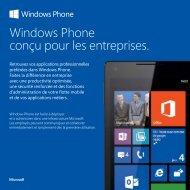 Windows Phone conçu pour les entreprises. - TechNet Blogs