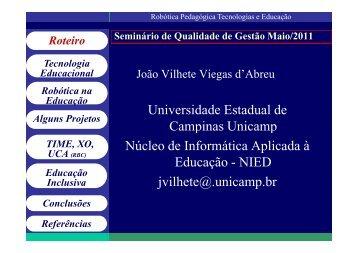 Download da apresentação - Faculdade de Tecnologia - Unicamp