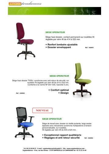 Bureau et direction Quelques exemples de sièges ... - Ergotendances
